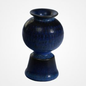 Miniature blue vase by Stig Lindberg for Gustavsberg